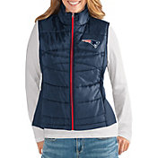 G-III for Her Women's New England Patriots Wingback Navy Full-Zip Vest