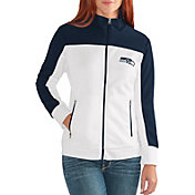 G-III for Her Women's Seattle Seahawks Playmaker Rhinestone Track Jacket