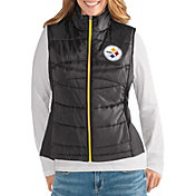 G-III for Her Women's Pittsburgh Steelers Wingback Black Full-Zip Vest
