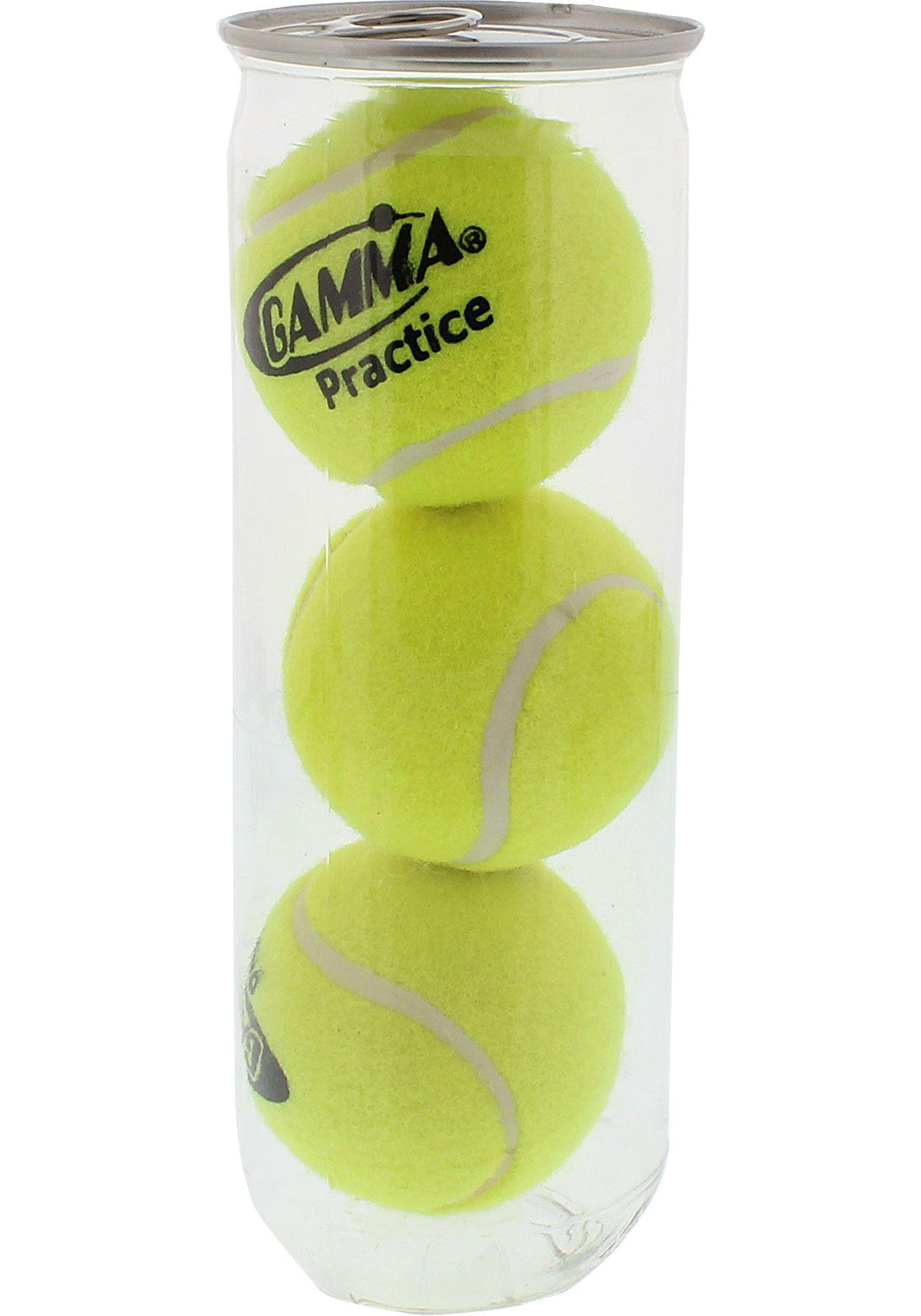 GAMMA Pro Practice Tennis Balls – 3 Can