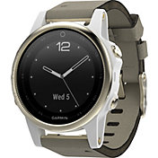Garmin fenix 5s Sapphire Smartwatch with Suede Band