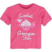 Gen2 Toddler Girls' Georgia Bulldogs Pink 'Sweetest Fan' T-Shirt