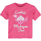 Gen2 Toddler Girls' Michigan Wolverines Pink 'Sweetest Fan' T-Shirt