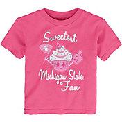 Gen2 Toddler Girls' Michigan State Spartans Pink 'Sweetest Fan' T-Shirt