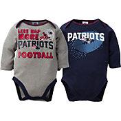 Gerber Infant New England Patriots 2-Piece Long Sleeve Onesie Set