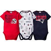 Gerber Infant New England Patriots 3-Piece Onesie Set