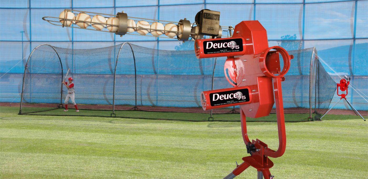 Heater Deuce 75 Pitching Machine w/ Xtender 36' Batting Cage