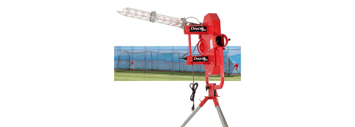 Heater Deuce 95 Pitching Machine w/ Xtender 48' Batting Cage