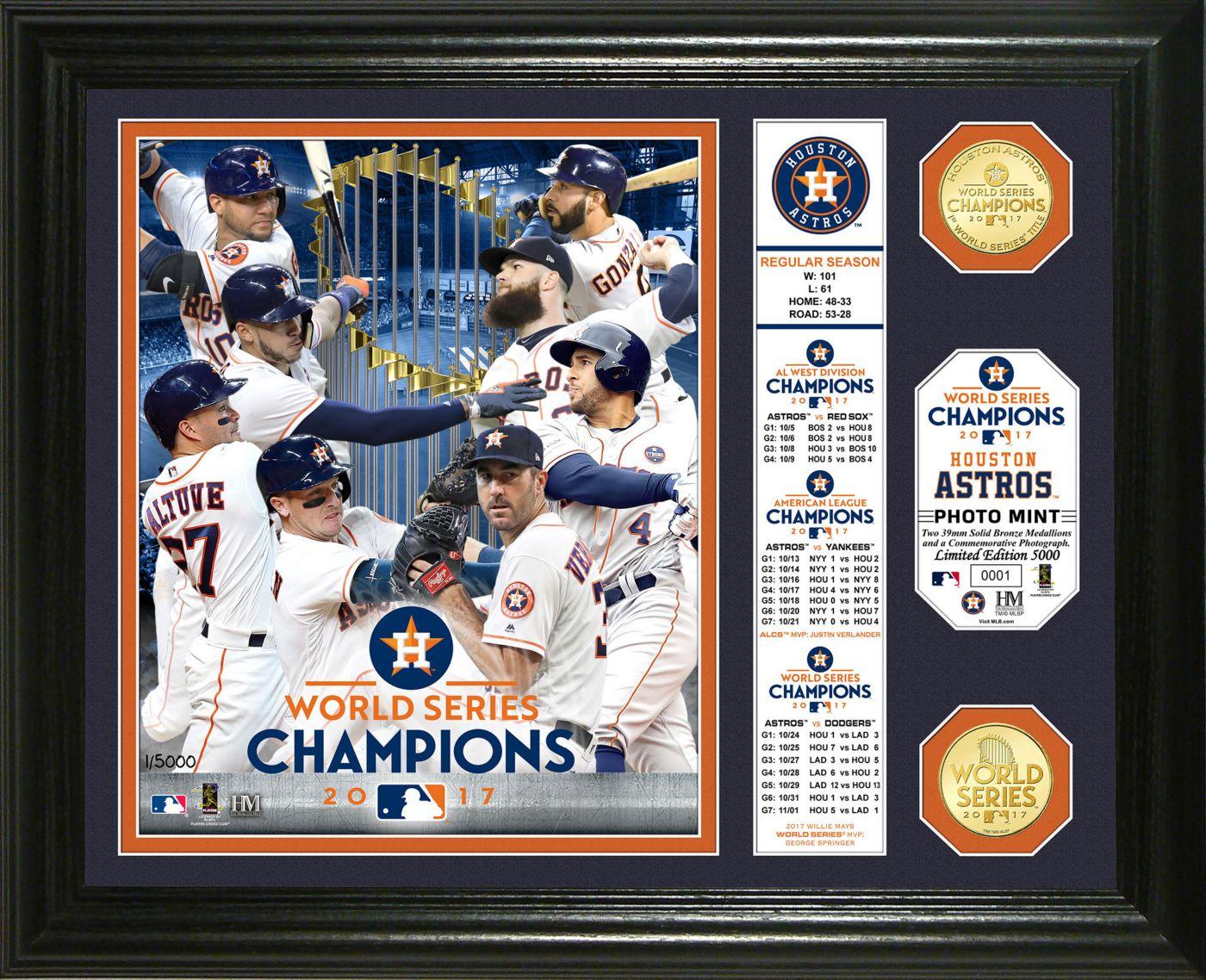 "Highland Mint 2017 World Series Champions Houston Astros ""Banner"" Bronze Coin Photo Mint"