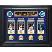 Highland Mint 2017 NBA Finals Champions Golden State Warriors Deluxe Gold Coin & Ticket Collection