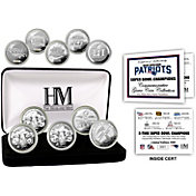 Highland Mint New England Patriots 5 Time Super Bowl Champions Silver Coin Set