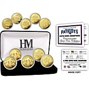 Highland Mint 5-Time Super Bowl Champions New England Patriots Gold Coin Set