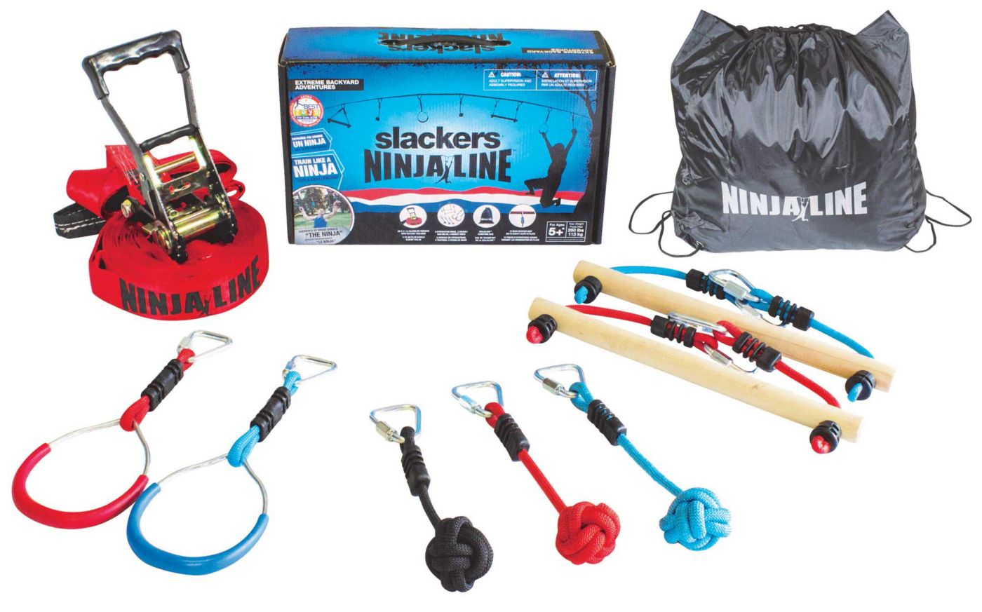 Slackers NinjaLine 36' Intro Kit with Hanging Obstacles