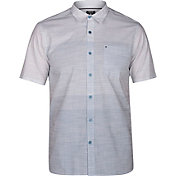 Hurley Men's Hudson Stripe Woven Short Sleeve Shirt
