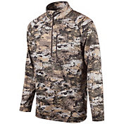 Huntworth Men's Half Zip Performance Fleece Camo Pullover