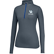 Top of the World Women's Kentucky Wildcats Grey Get Going Quarter-Zip Top