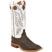 Justin Men's Chocolate Bisonte Bent Rail Western Boots