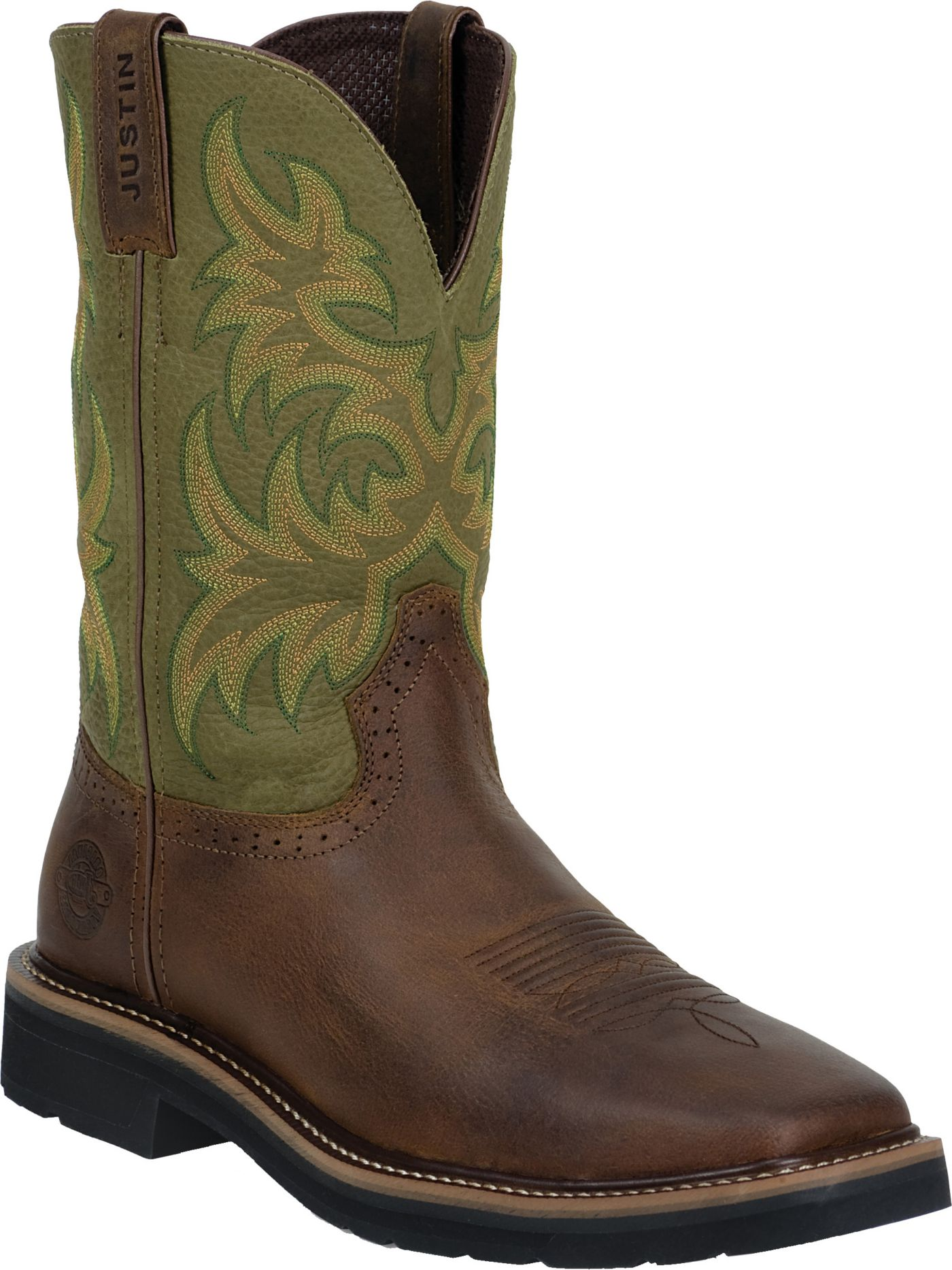 Justin Men S Cowhide Stampede Work Boots Dick S Sporting