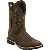 Justin Boots Men's George Strait Weathered Bark Western Boots