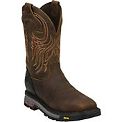 Justin Men's Pull-On Commander X-5 Steel Toe Western Work Boots