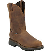 Justin Men's Rugged Aged Bark Gaucho Waterproof Work Boots