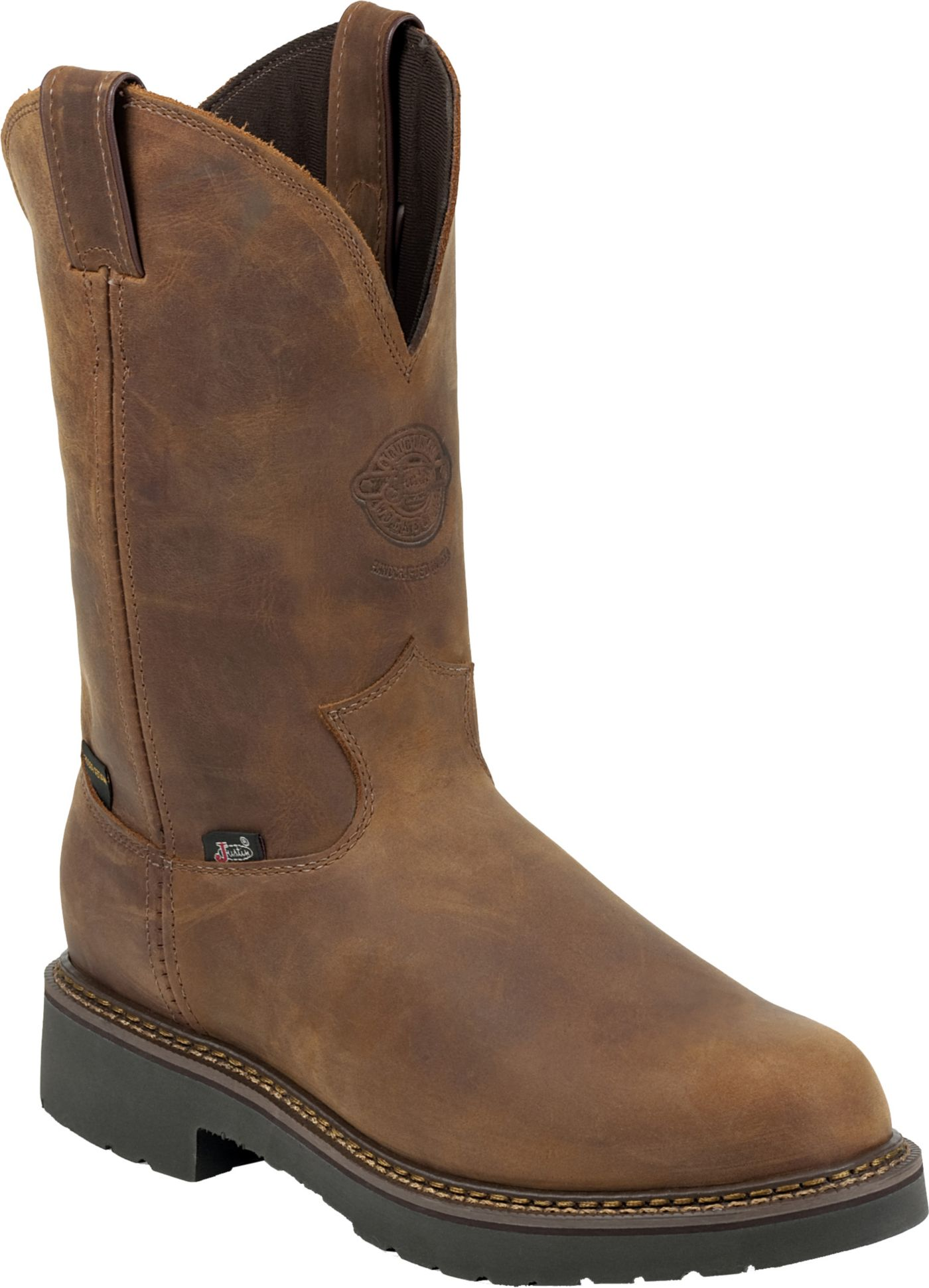 Justin Men's Rugged Aged Bark Gaucho Waterproof Western Work Boots