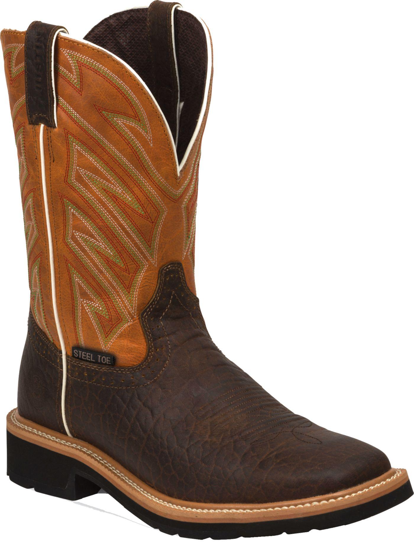 Justin Men S Stampede Steel Toe Work Boots Dick S