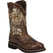 Justin Boots Men's Trekker Realtree AP Waterproof Work Boots