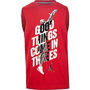 Jordan Boys' Good Things Come In 3's Muscle Sleeveless Shirt