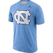 Jordan Men's North Carolina Tar Heels Carolina Blue Dri-FIT Football Sideline Slub T-Shirt