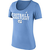 Jordan Women's North Carolina Tar Heels Carolina Blue 'Football Takes Flight' Football Mantra T-Shirt