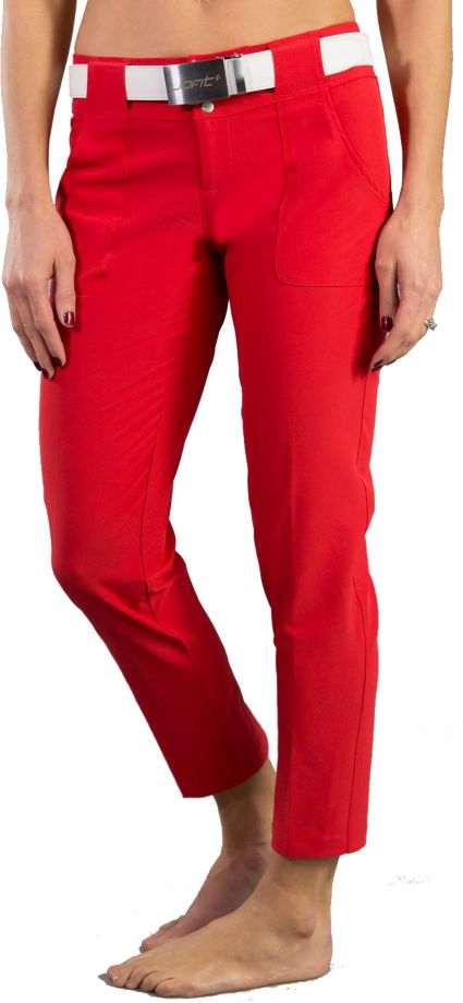 Jofit Women's Belted Cropped Printed Pants