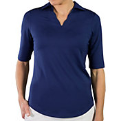 Jofit Women's Scallop Half-Sleeve Golf Polo