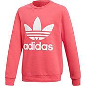 adidas Originals Girls' Trefoil Crew Sweatshirt