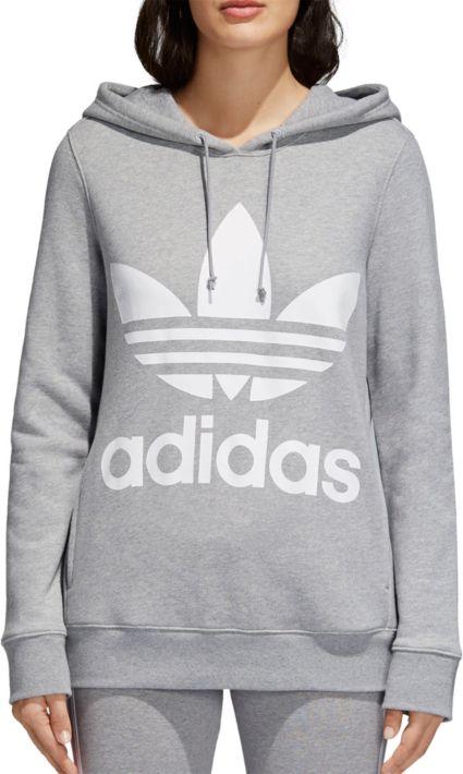 Adidas originals trefoil hoodie 100% cotton maroon women