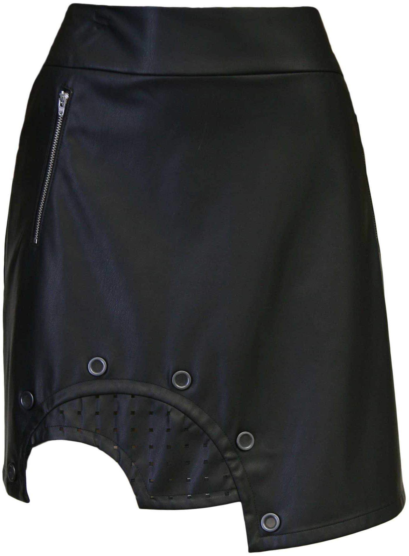 Jamie Sadock Women's Jet Leather Golf Skort