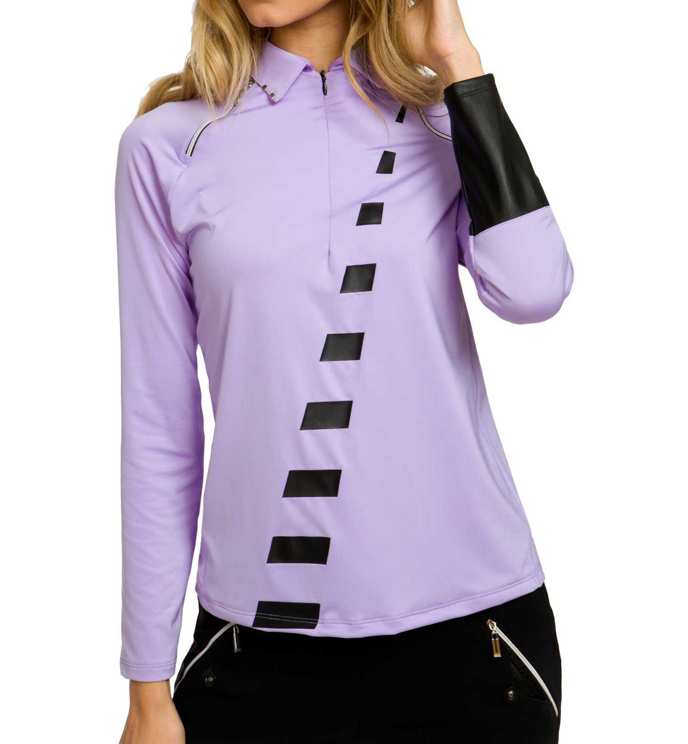 Jamie Sadock Women's Violetta Long Sleeve Golf Polo