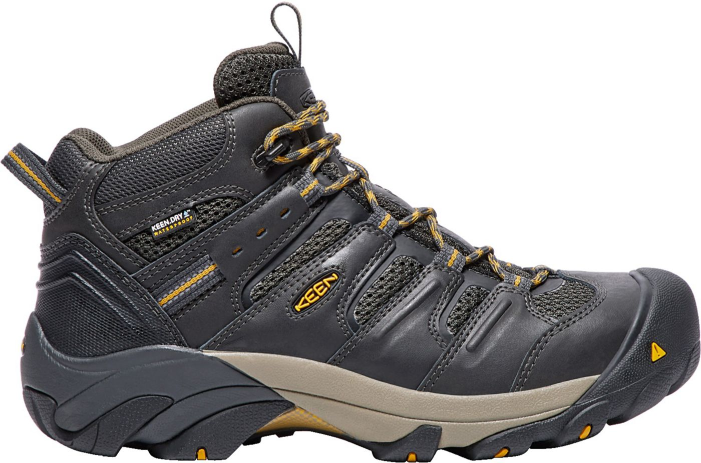 KEEN Men's Lansing Mid Waterproof Steel Toe Work Boots