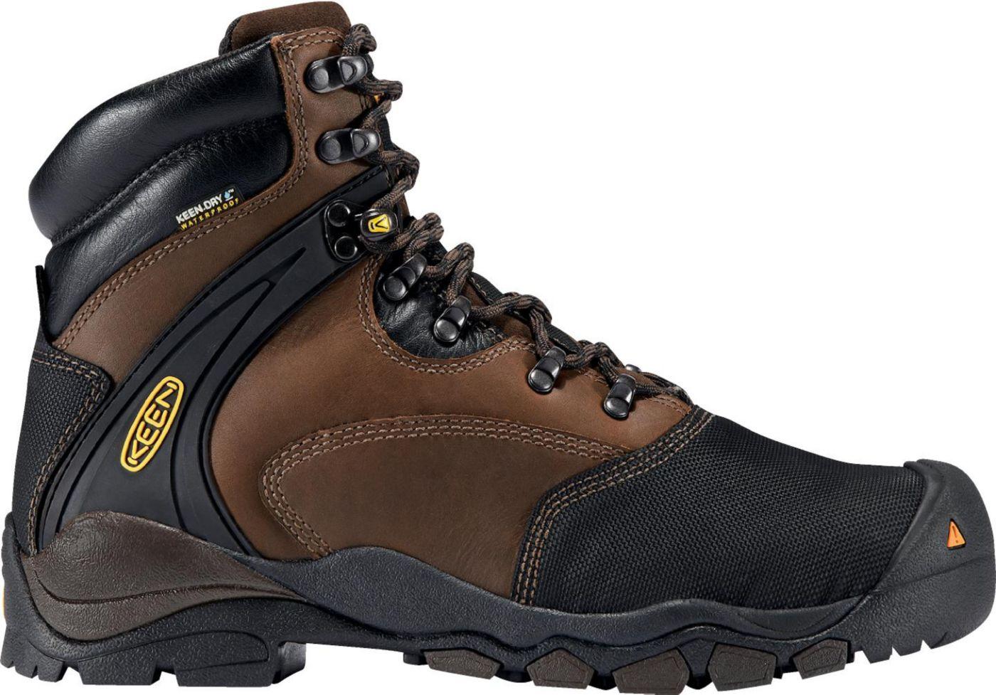 KEEN Men's Louisville Met Waterproof Steel Toe Work Boots