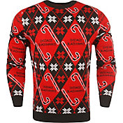 FOCO Men's Chicago Blackhawks Candy Cane Ugly Sweater
