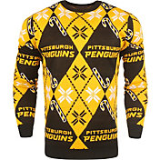 FOCO Men's Pittsburgh Penguins Candy Cane Ugly Sweater