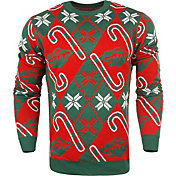 FOCO Men's Minnesota Wild Candy Cane Ugly Sweater