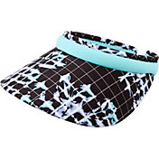 Lady Hagen Women's Vintage Collection Floral Printed Wide Brim Golf Visor