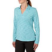Lady Hagen Women's Essential Space Dye Long Sleeve Golf Polo