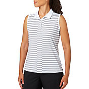 Lady Hagen Serenity Collection Stripe Sleeveless Golf Polo