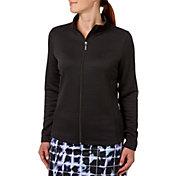 Lady Hagen Women's Textured Long Sleeve Full Zip Golf Jacket
