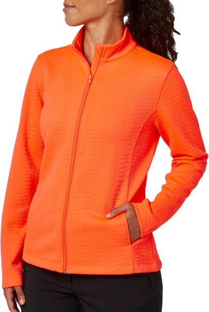 Lady Hagen Women's Textured Long Sleeve Full Zip Jacket - Extended Sizes