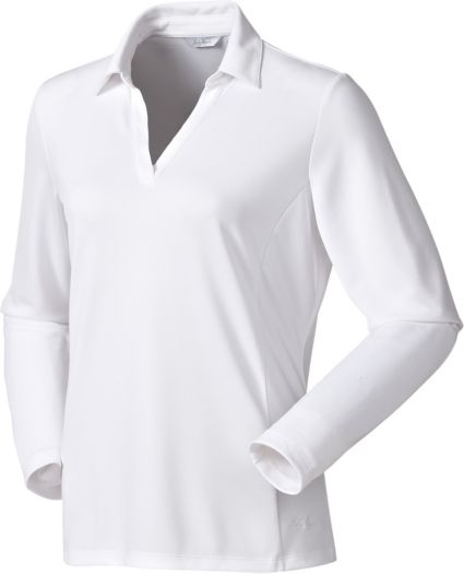 Lady Hagen Women's Essential Long Sleeve Polo - Extended Sizes