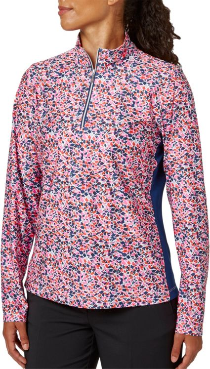 Lady Hagen Women's Printed UV Long Sleeve 1/4-Zip