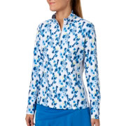 Lady Hagen Women's Printed UV Long Sleeve Golf 1/4-Zip